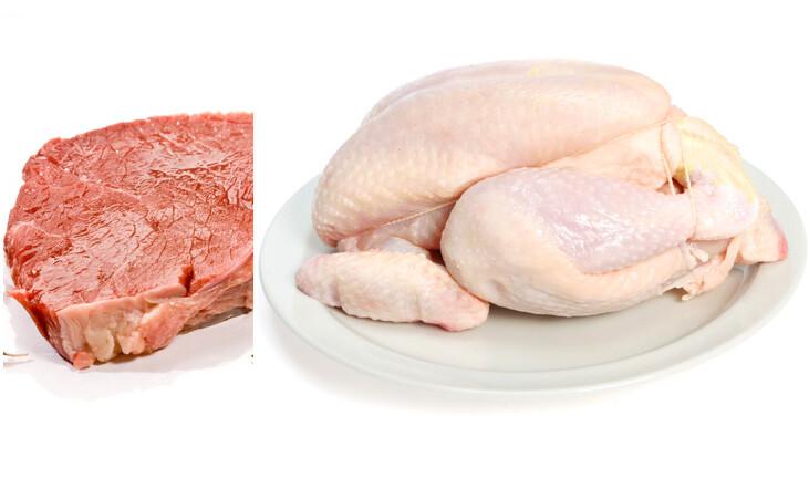 chicken beef
