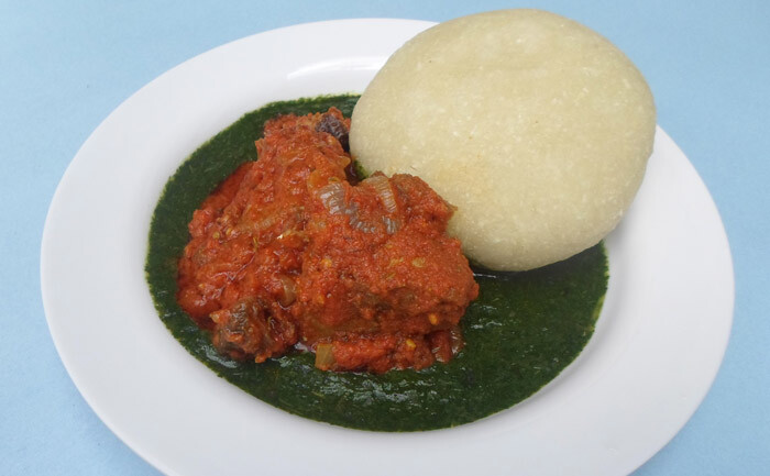 Eba and ewedu