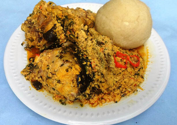 Egusi and catfish soup