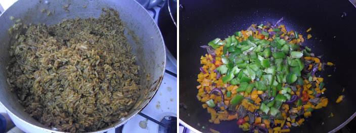 Making Caribbean rice