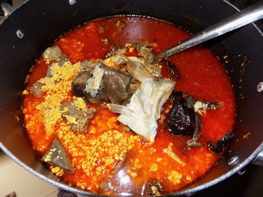 making egusi soup