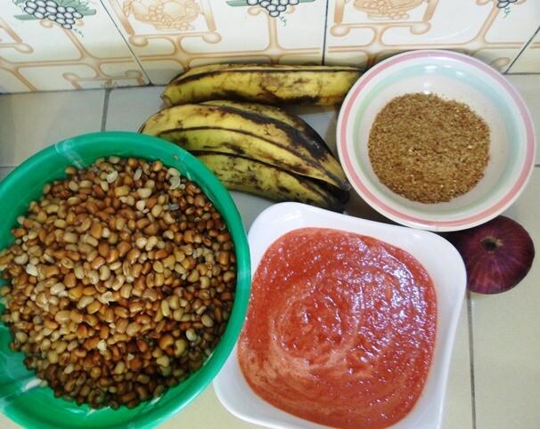 Making beans porridge