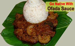 Ofada Rice-sauce