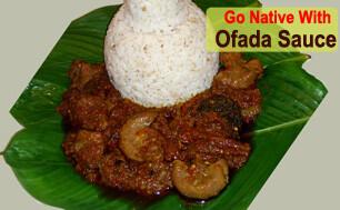Ofada Rice-sauce