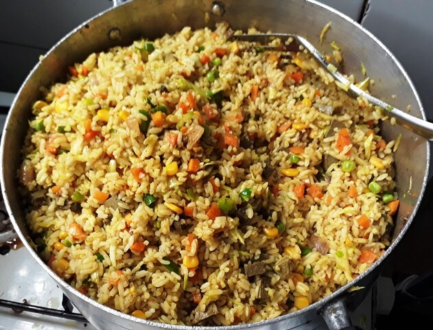 pot of fried rice