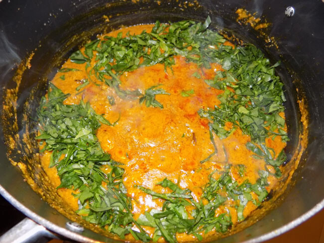 pot of groundnut soup